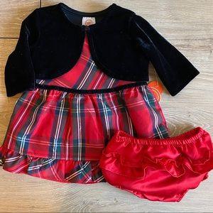 NWT 3 piece Red Plaid Dress set